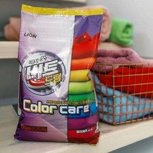 LION Концентрированный стиральный порошок «BEAT DRUM COLOR CARE» защита цвета (для цветного белья) для автоматической стирки