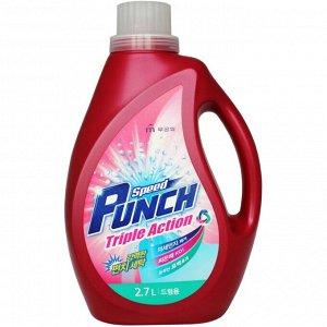 """Глубокоочищ жидкое средство для стирки """"Speed Punch Triple Action"""" быстр действ «Ударная сила» 2,7 л"""