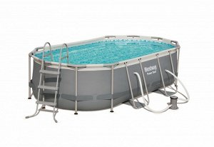 Каркасный овальный бассейн+фильтр-насос+лестница