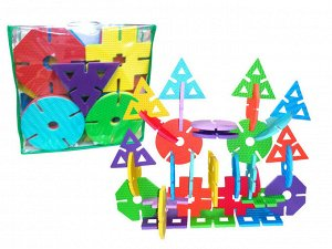 Мягкий конструктор арт.KBP-31040 (42 шт., 6 цветов, 6 фигур)