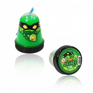 """Игрушка ТМ """"Slime """"Ninja"""" арт.S130-18 светится в темноте, зеленый, 130 г. """"боится холода"""""""
