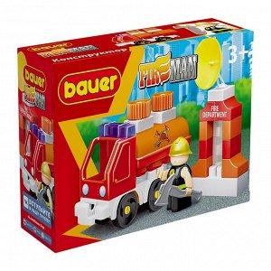 """Bauer.738 Конструктор """"Fireman"""" набор пожарная машина с цистерной  РРЦ 349 руб."""
