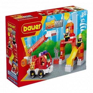 """Bauer.740 Конструктор """"Fireman"""" набор пожарная машина и трениров. площадка РРЦ 799руб"""