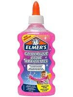 "Клей канцелярский с блестками Elmers ""Glitter Glue"", 177мл, для слаймов, розовый"