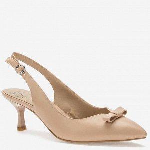 907034/06-03 бежевый иск.кожа женские туфли открытые