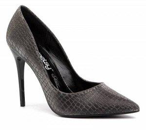 907754/01-01 черный иск.кожа под рептилию женские туфли