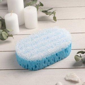 Губка банная массажная PRIDE «Удовольствие», 10,5?6?16,5 см, цвет МИКС