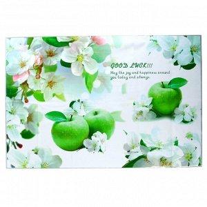 """Наклейка на кафельную плитку """"Цветущая яблоня и яблоки"""" 90х60 см"""