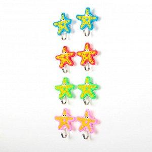 Набор крючков на липучке «Морские звёзды», 2 шт, цвет МИКС