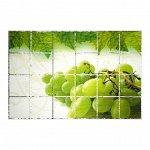 """Наклейка на кафельную плитку """"Зелёный виноград"""" 90х60 см 4757260"""