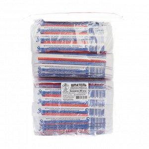 Шпатель стерильный деревянный шлифованный, 140*18*1,8, 200 шт в упак.