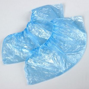 Бахилы медицинские синие, 400*150мм., 28 мкм., 3,2 г.