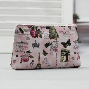 Косметичка простая, отдел на молнии, цвет розовый 1492421