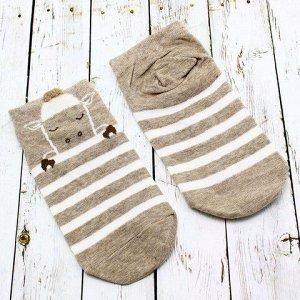 "Короткие носки р.35-40 ""Short Brown"" Овечка"