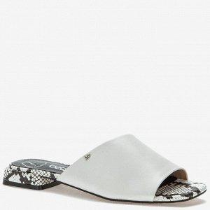 907019/01-02 белый иск.кожа женские туфли открытые