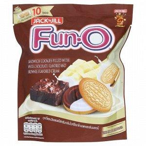Печенье Fun-O сэндвич с  белым и коричневым шоколадным кремом 150 гр   СРОК ГОДНОСТИ ДО 08.01.2021