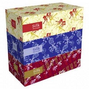 Салфетки бумажные Silk, двухслойные / KRACIE (KANEBO)3уп/250шт