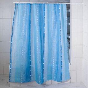 """Штора для ванной """"Дождь"""", 180х200 см, полиэстер"""