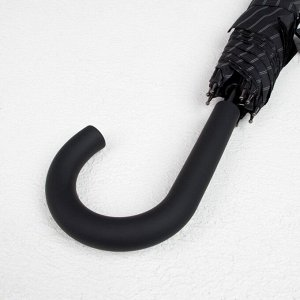 Зонт - трость полуавтоматический «Полоска», 8 спиц, R = 56, цвет чёрный, 1721