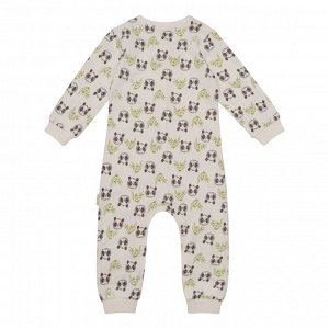 Комбинезон для сна для мальчика, молочный набивка панды