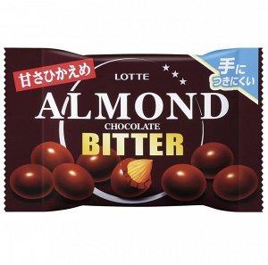 Миндаль в тёмном шоколаде, Lotte, 35гр.
