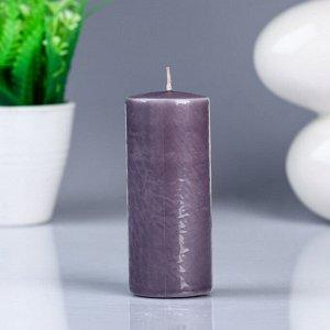 Свеча- цилиндр, парафиновая, дымка, 4?10 см
