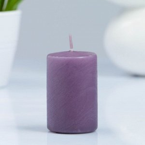 Свеча- цилиндр, парафиновая, дымка, 4?6 см