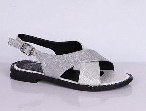 L0161-05-54 серебро (Иск.кожа/Иск.кожа) Туфли летние открытые женские 10п