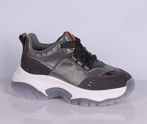 L0186-01-10 серый (Иск.кожа/Т) П/ботинки женские 10п
