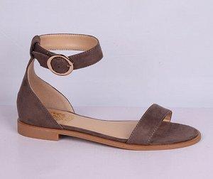 Туфли коричневые летние открытые женские
