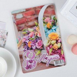 Доска разделочная Виктория «8 марта. Корзина с розами», 25?16,5 см