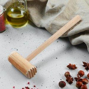 Молоток деревянный, круглый, 27,5 см, микс