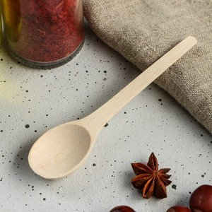 """Ложка деревянная """"Чайная"""", 11 х 2,5 см, массив бука"""