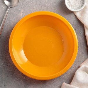 Тарелка для первых блюд 22 см, цвет МИКС