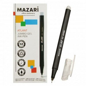 Ручка гелевая Mazari Jumbo Atlant, 0.5 мм, увеличенный запас чернил, одноразовая, чёрная