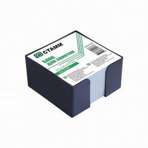 Блок бумаги для записей в пластиковом боксе, 9 x 9 x 5 см, белый, 65 г/м2, чёрный бокс