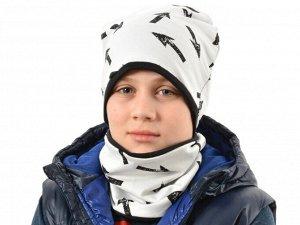 Комплект детский Футер для мальчика (шапка_снуд)