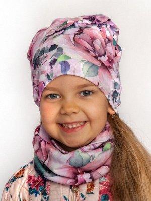 Комплект детский Рибана для девочки (шапка_снуд)