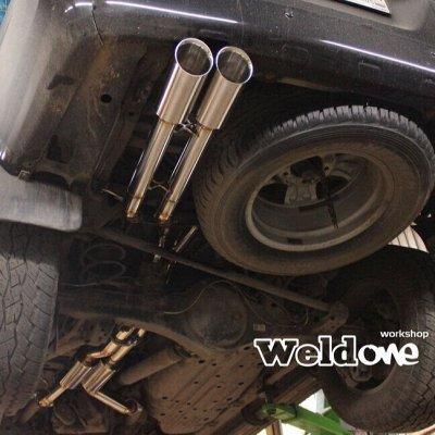 EXHAUSTмания - выхлопные системы для любого авто. Насадки — Выхлопная система Toyota Land Cruiser 200 diesel — Для авто