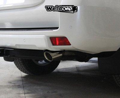 EXHAUSTмания - выхлопные системы для любого авто. Насадки — Выхлопная система Toyota Land Cruiser Prado TRJ150 — Для авто