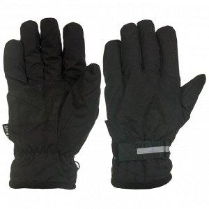 Перчатки Темные перчатки с фиксатором и вставками на ладонях   - темно-серого цвета с усилением ладони, удобные, мягкие и теплые №1012