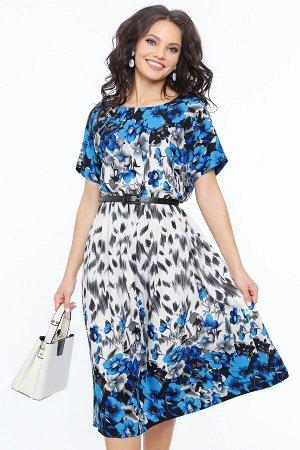 Платье Всегда на высоте, блю, с ремешком
