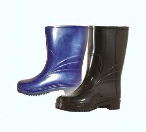 Сапоги женские синие