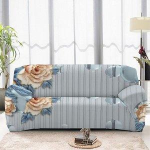 Чехол на диван трехместный ЧХТР071-14617, 195-230 см                              (s-104767)
