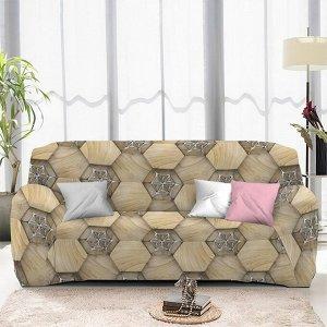Чехол на диван трехместный ЧХТР071-13327, 195-230 см                              (s-104759)
