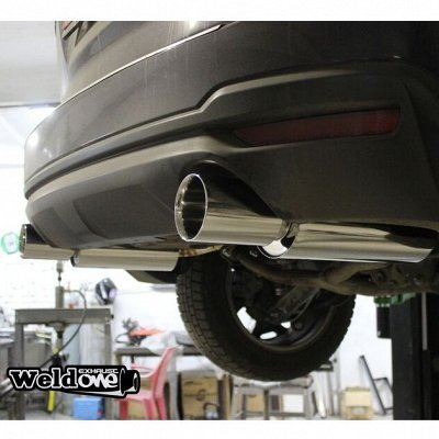 EXHAUSTмания - выхлопные системы для любого авто. Насадки — Выхлопная система Subaru Forester SJG — Для авто