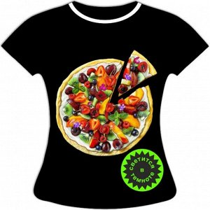 Женская футболка Пицца 1073