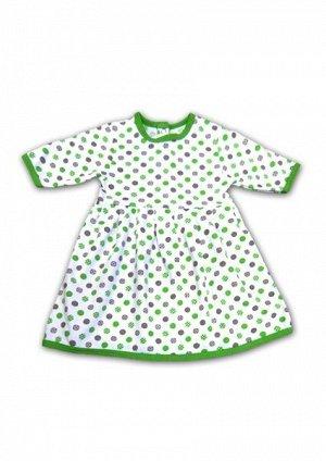 Зеленое платье с рукавом для ребенка