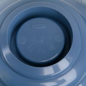 Горшок на ножке «Лилия», 14 л, цвет дымчатый синий