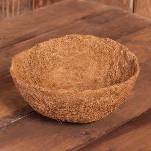 Вкладыш в кашпо, d = 25 см, кокос, «Сфера»
